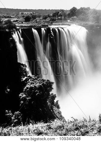 Victoria Falls blurred