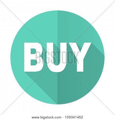 buy blue web flat design circle icon on white background