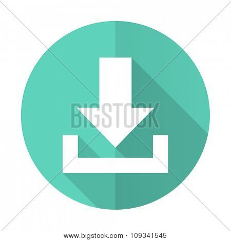 download blue web flat design circle icon on white background
