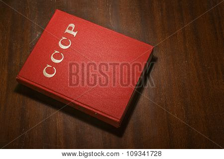 Red CCCP book on the table
