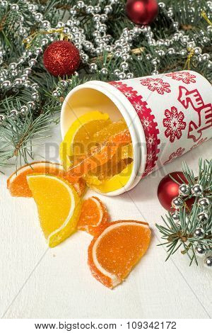 Marmalade Orange And Lemon Slices For Christmas