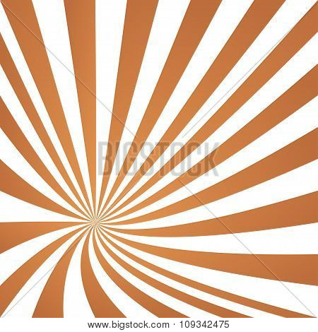 Light brown converging ray design