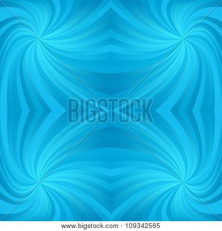 Cyan repeating swirl pattern background