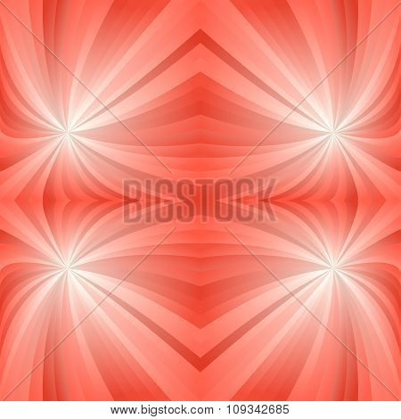 Orange mirror twirl background