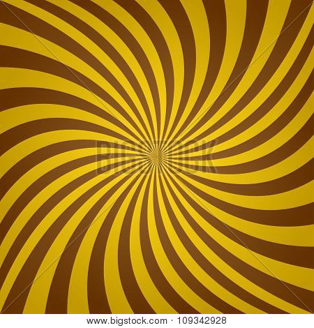 Golden brown whirl background