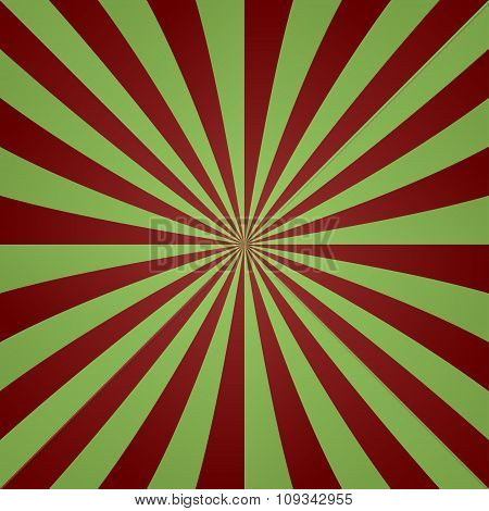 Red green vintage striped ray background