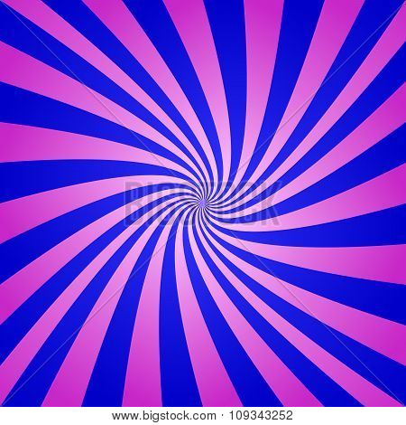 Magenta blue spiral background