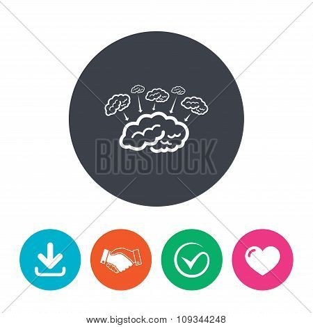 Brain sign icon. Brainstorm business ideas.