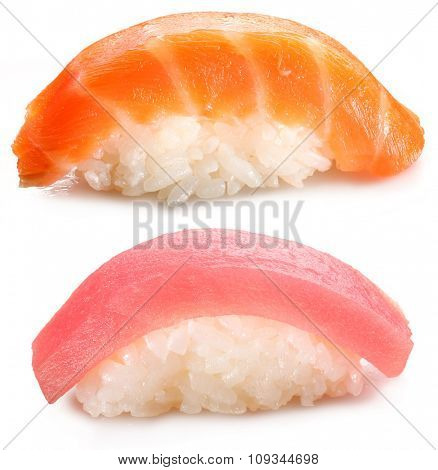 Sushi - traditional japanese food.  File contains clipping paths.