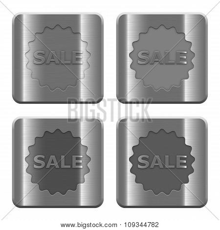 Metal Sale Badge Buttons
