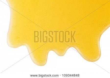 Honey stain isolated on a white background. Clipping paths.