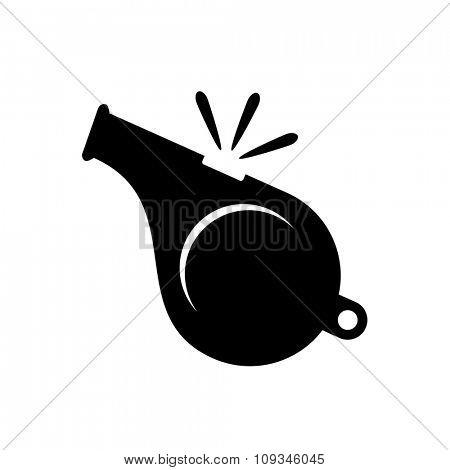 Whistle icon isolated on white