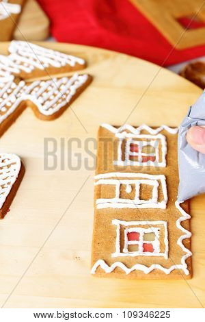 Making of gingerbread house