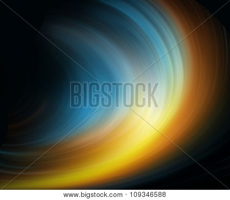 Abstract fiery yellow-blue background