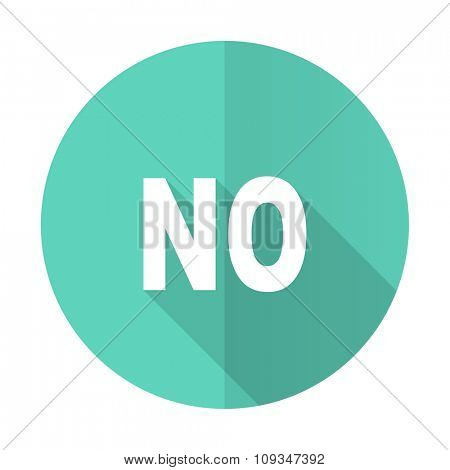 no blue web flat design circle icon on white background