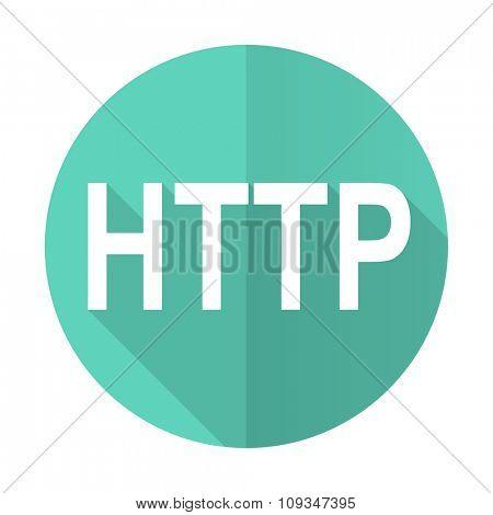 http blue web flat design circle icon on white background