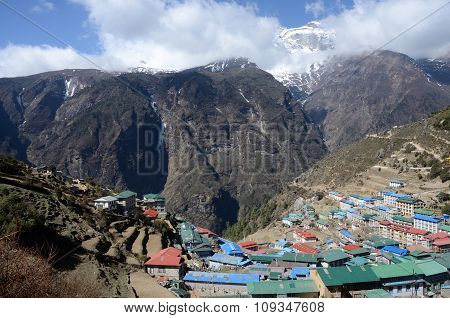 Namche Bazaar View - Popular Place Among Trekkers In Khumbu Region, For Altitude Acclimatization