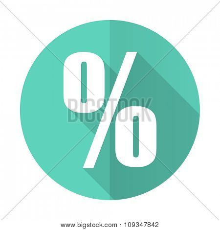 percent blue web flat design circle icon on white background