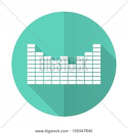 sound blue web flat design circle icon on white background