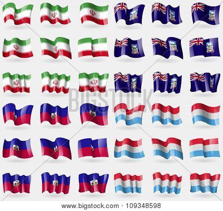Iran, Falkland Islands, Haiti, Luxembourg