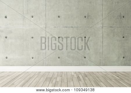 Concrete Wall Loft Style Decor, Background, Template Design