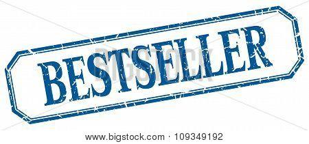 Bestseller Square Blue Grunge Vintage Isolated Label