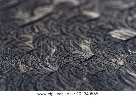 Black oak texture, macro, small focus depth