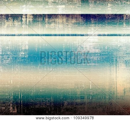 Grunge old-fashioned background with space for text or image. With different color patterns: brown; black; blue; white