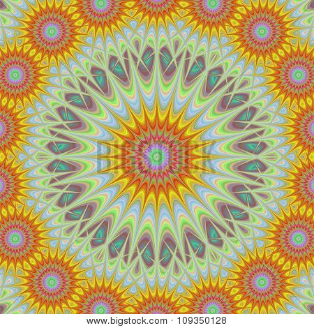 Abstract geometric sun mandala design background