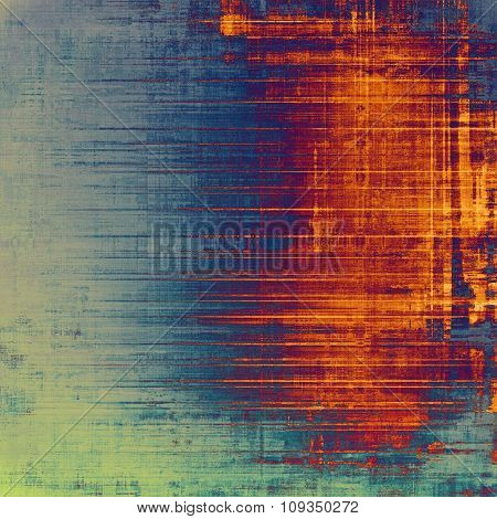 Beautiful vintage background. With different color patterns: yellow (beige); green; blue; red (orange)