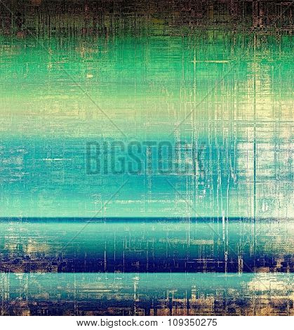 Designed grunge texture or retro background. With different color patterns: yellow (beige); brown; green; blue