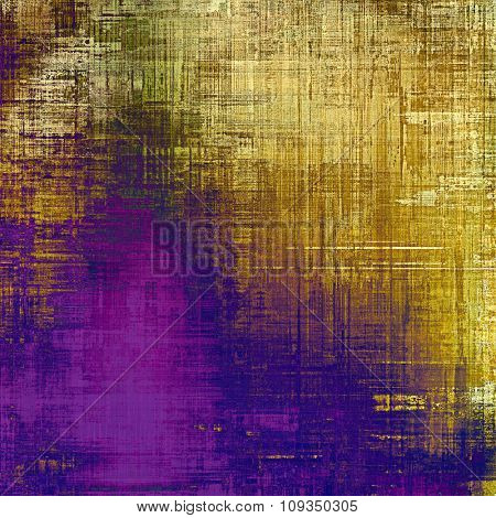 Old, grunge background or ancient texture. With different color patterns: yellow (beige); brown; blue; purple (violet)