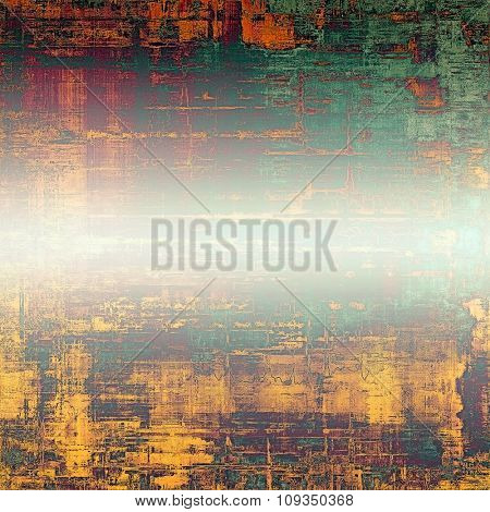 Retro background with old grunge texture. With different color patterns: yellow (beige); green; purple (violet); red (orange)