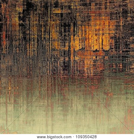 Designed grunge texture or background. With different color patterns: yellow (beige); brown; black; gray