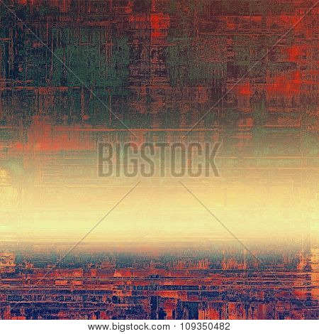 Retro background with old grunge texture. With different color patterns: yellow (beige); brown; green; blue; red (orange)