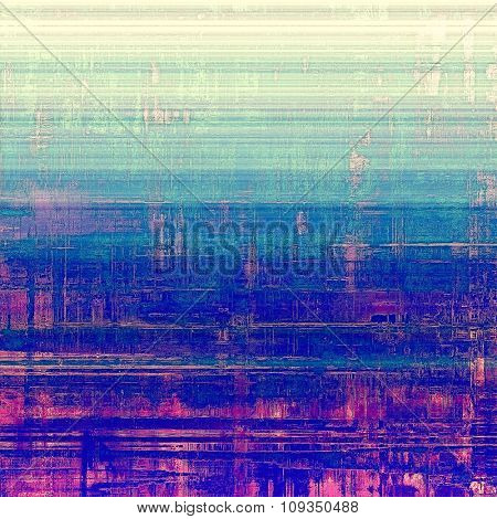 Art grunge vintage textured background. With different color patterns: yellow (beige); green; blue; purple (violet)