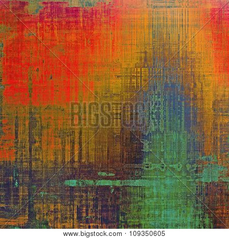 Grunge background or texture for your design. With different color patterns: brown; green; blue; red (orange)