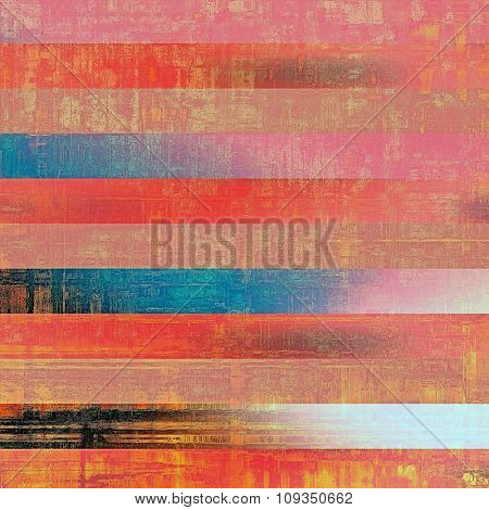 Colorful vintage texture. With different color patterns: brown; blue; red (orange); pink