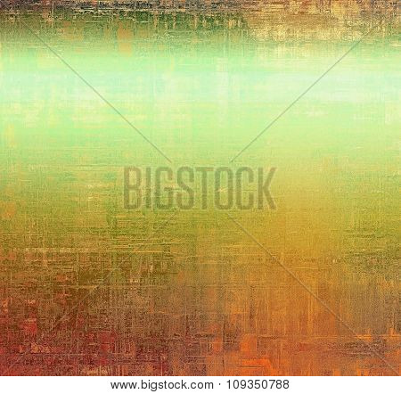 Old abstract grunge background for creative designed textures. With different color patterns: yellow (beige); brown; green; cyan