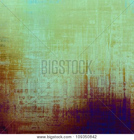 Abstract grunge background or old texture. With different color patterns: brown; green; blue; purple (violet)