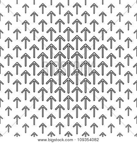 Monochrome arrow repeat pattern