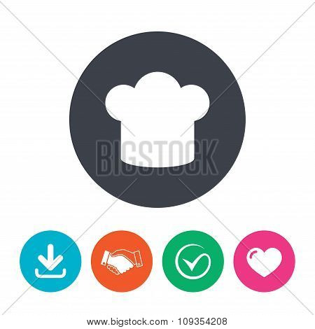 Chief hat sign icon. Cooking symbol.