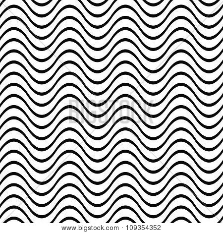 Repeating black white wave pattern