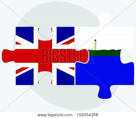 United Kingdom And Navassa Island Flags