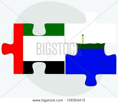 United Arab Emirates And Navassa Island Flags