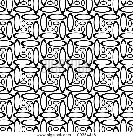 Monochrome repeating ellipse pattern
