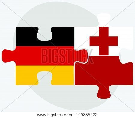 Germany And Tonga Flags