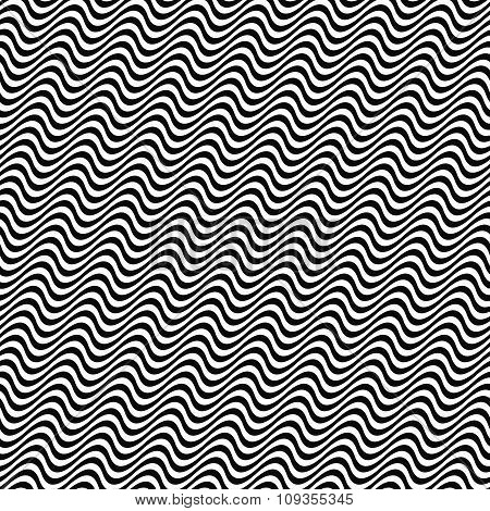 3D repeating black white angular wave pattern