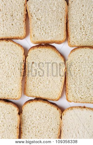 Sliced bread background