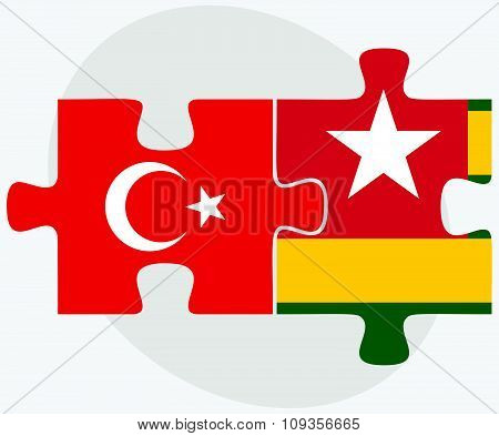 Turkey And Togo Flags